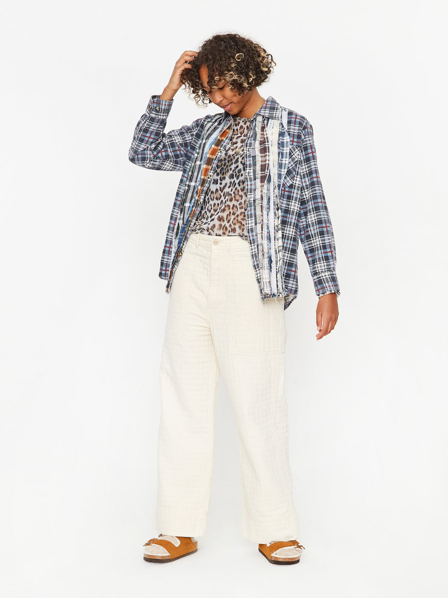 Girls Of Dust Girls Of Dust Fatigue Pant - Ecru - White