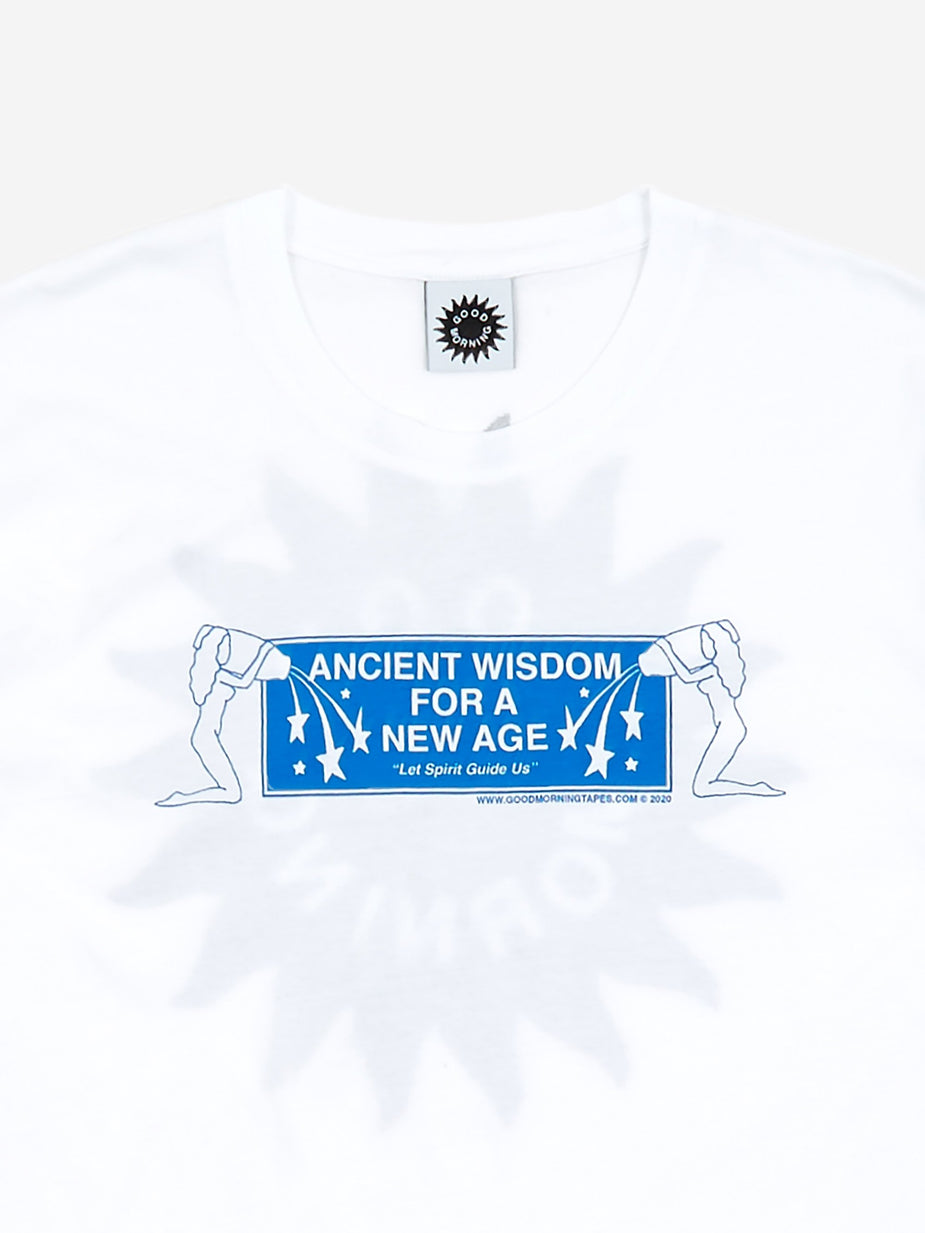 Good Morning Tapes Good Morning Tapes Ancient Wisdom Shortsleeve T-Shirt - White - White