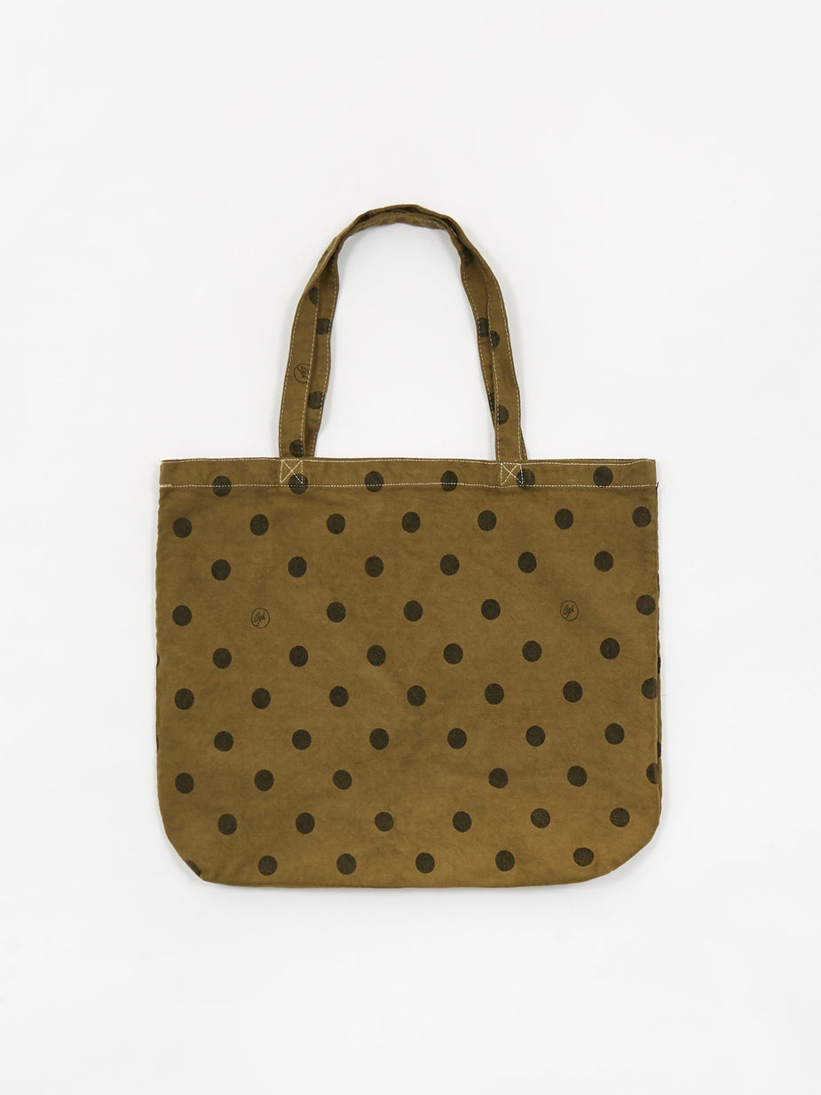 Goods By Goodhood Goods by Goodhood Medium Polka Dot Tote - Olive - Green