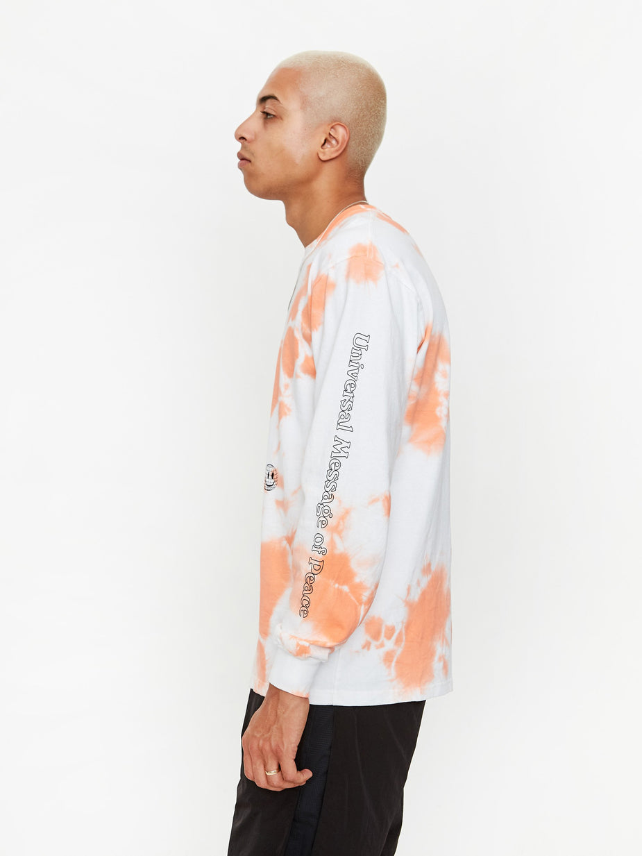Goods By Goodhood Goods by Goodhood LS Slow Tee - Peach - Tie-Dye