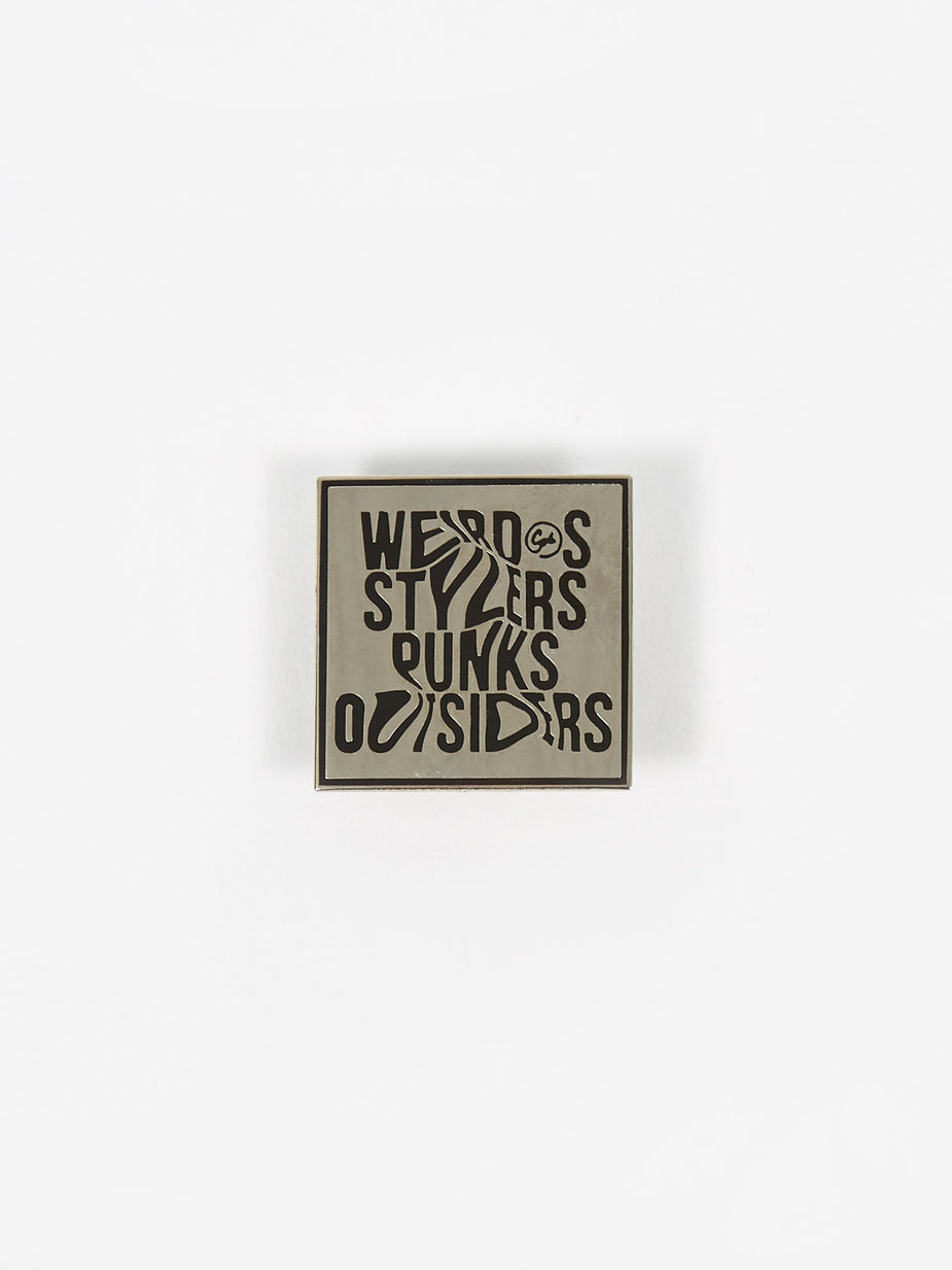 Goods By Goodhood Goods by Goodhood Weirdos Pin Badge - White