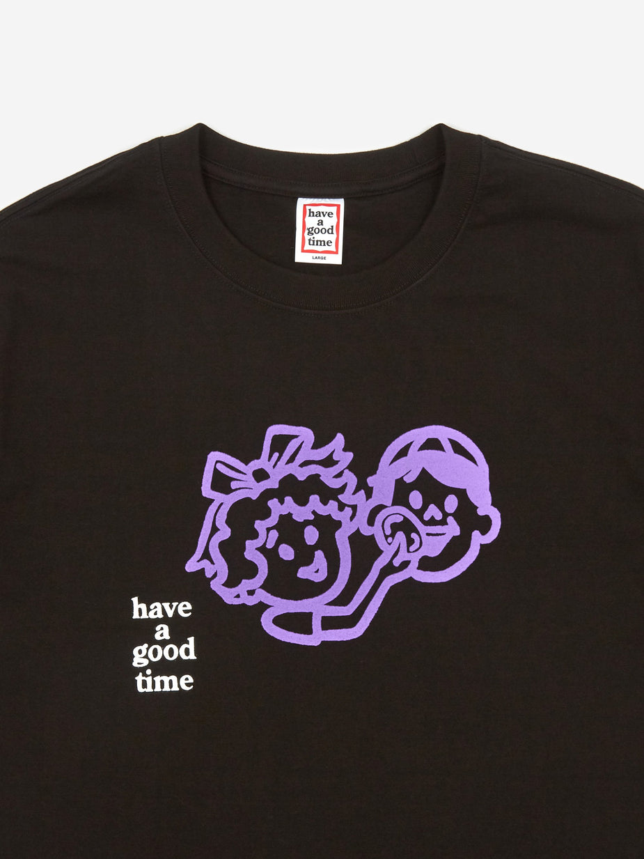 Have A Good Time Have A Good Time Enjoy Logo T-Shirt - Black - Black