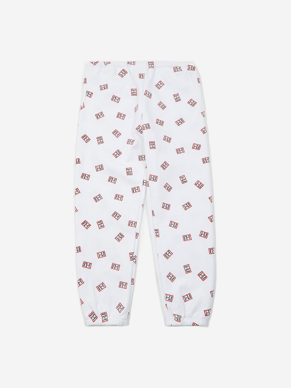 Have A Good Time Have A Good Time Mini Mini Frame Allover Sweatpant - White - White