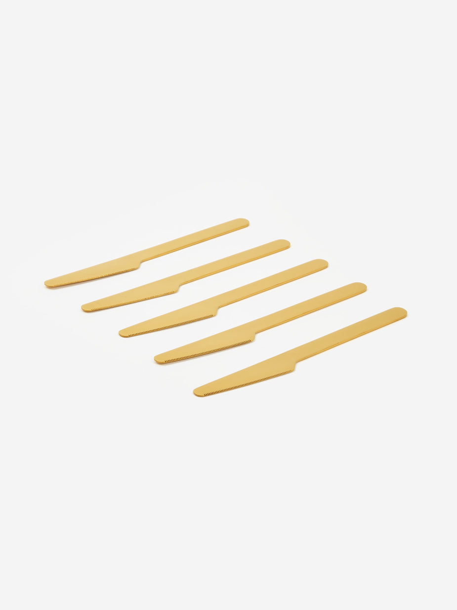 HAY Hay Everyday Knife 5 Piece Set - Golden - Gold
