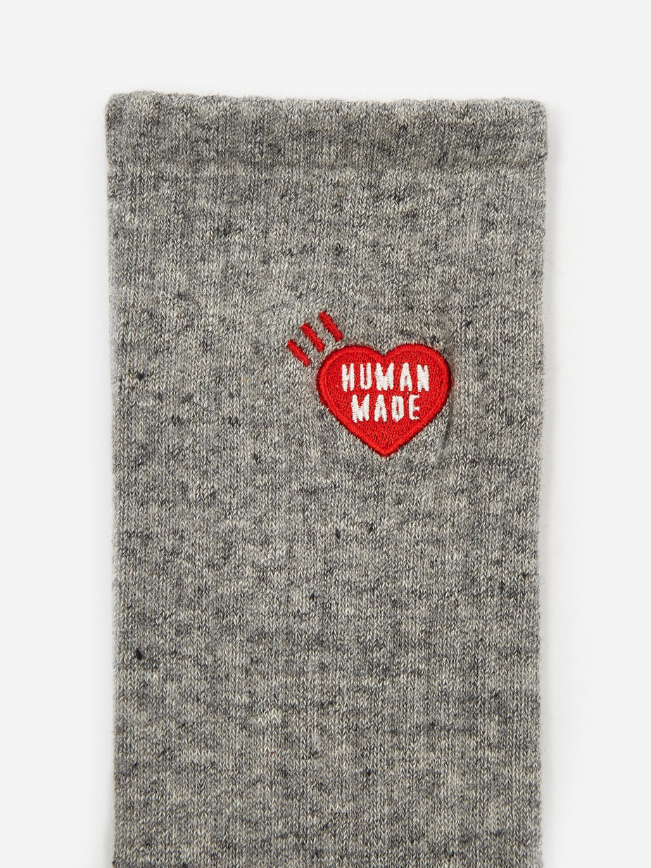 Human Made Human Made Long Pile Sock - Grey - Grey