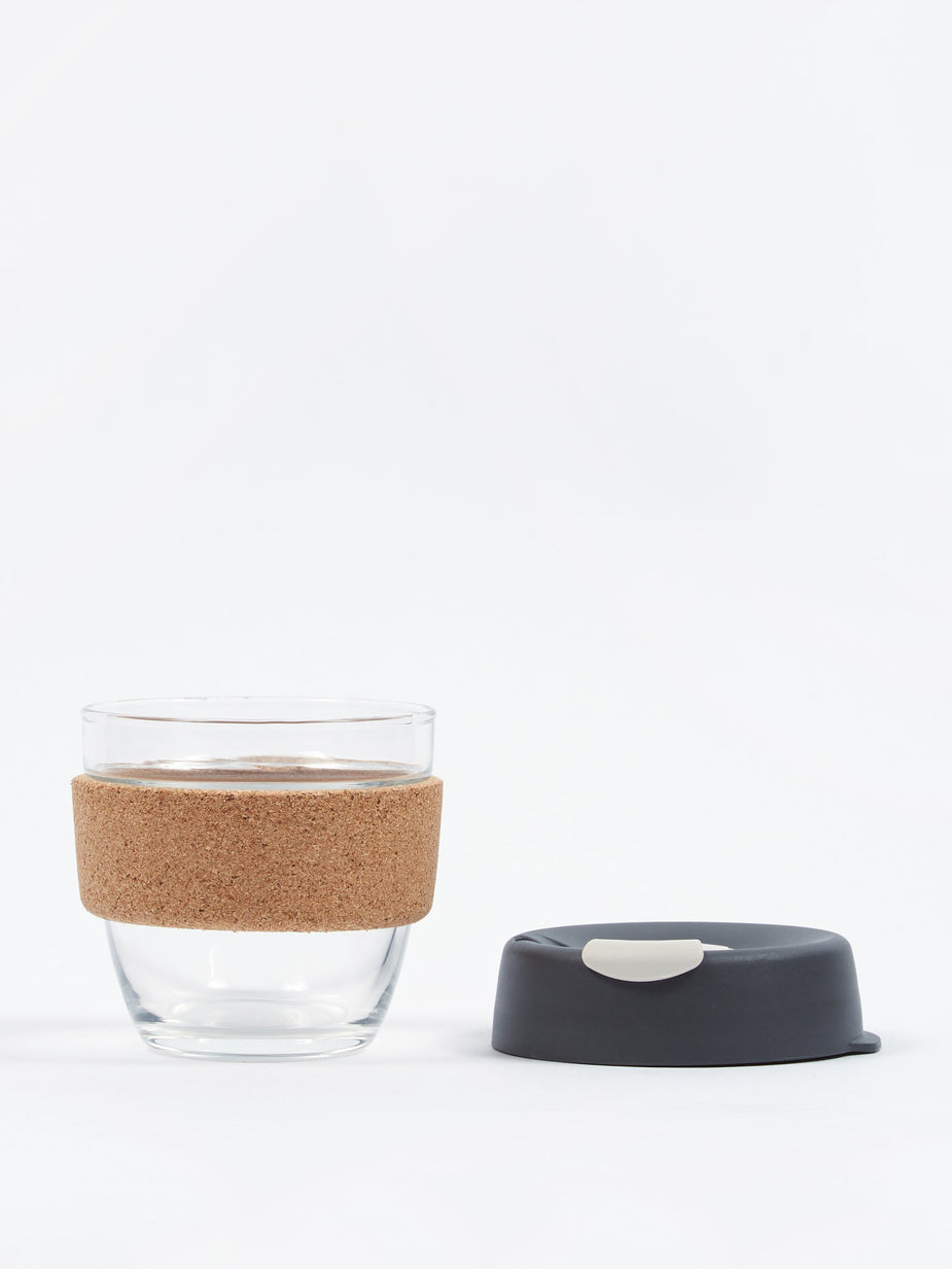 KeepCup KeepCup Cork Brew Reusable 8oz Glass Coffee Cup - Press