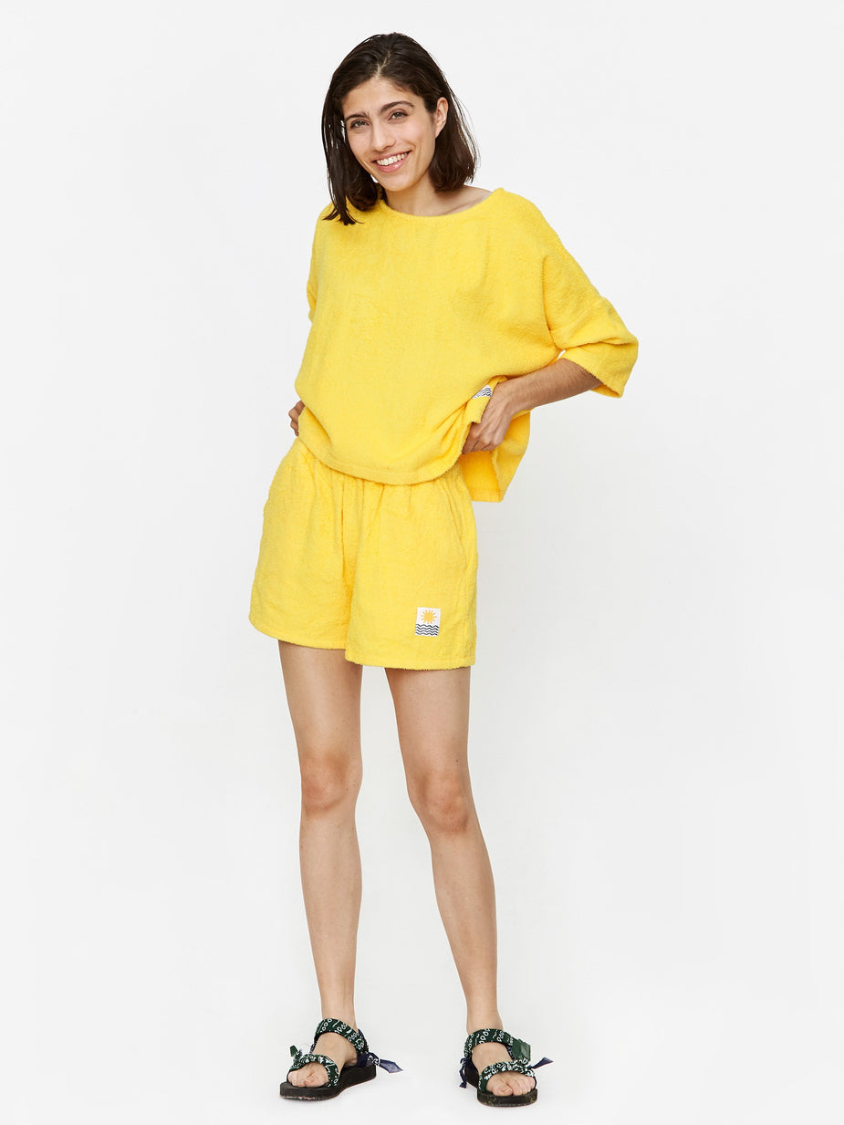 LF Markey LF Markey Basic Towelling Shorts - Yellow - Yellow