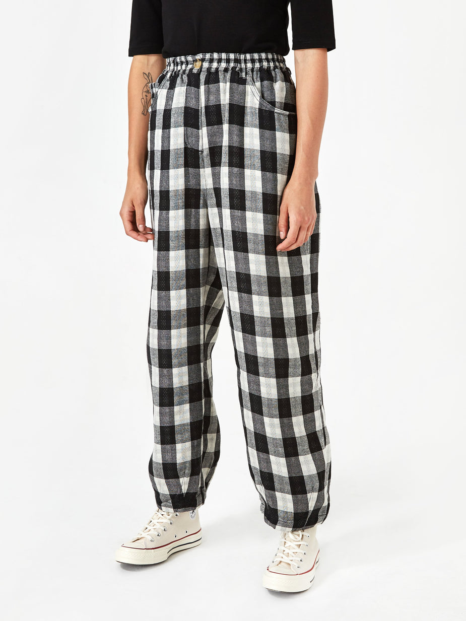 LF Markey LF Markey Fat Boy Trouser - Black Check - Black