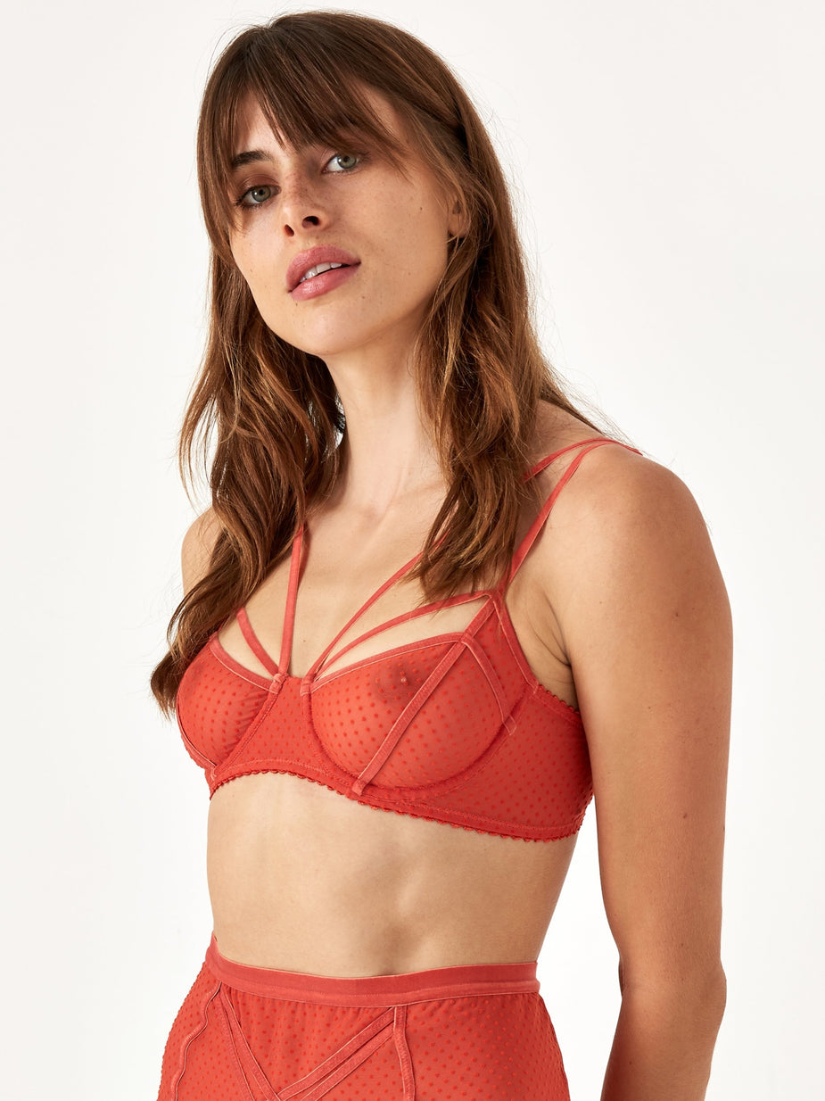 Lonely Lonely Gigi Underwire Bra - Copper
