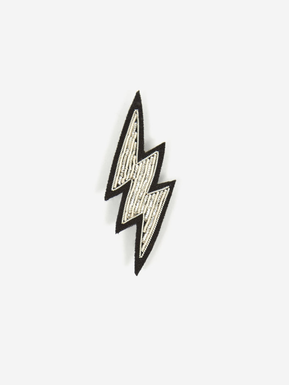 Macon & Lesquoy Macon & Lesquoy Lightening Embroidered Pin - Unisex