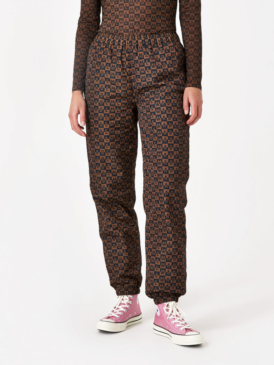 MadeMe MadeMe Checkered Logo Trackpant - Brown - Brown