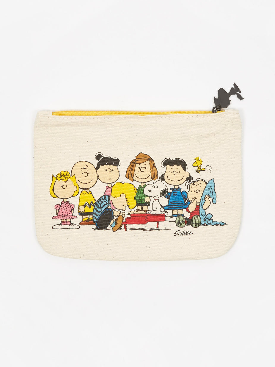 Peanuts Peanuts Zipper Pouch - Gang & House - 24cmx19cm - Other