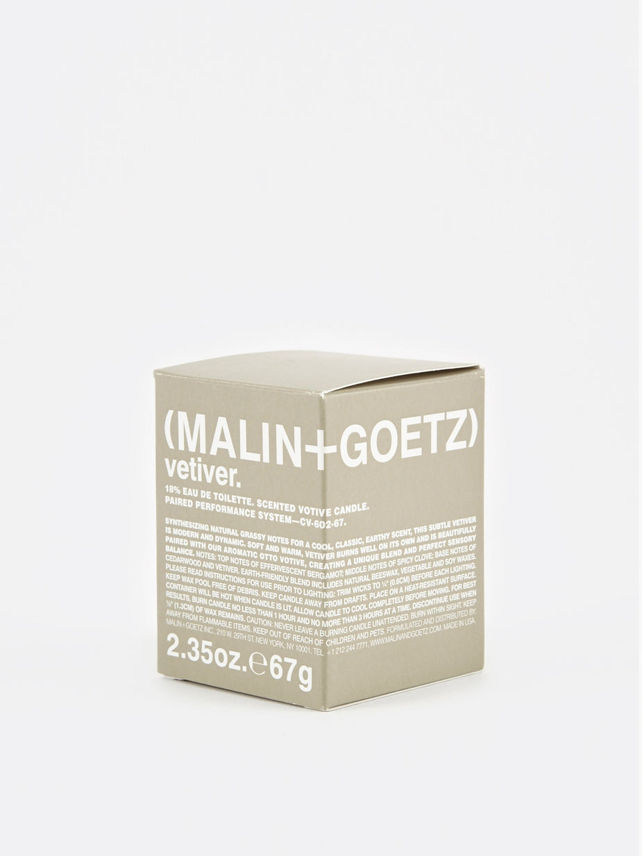 Malin+Goetz Malin+Goetz Scented Votive Candle 67g - Vetiver - Grey