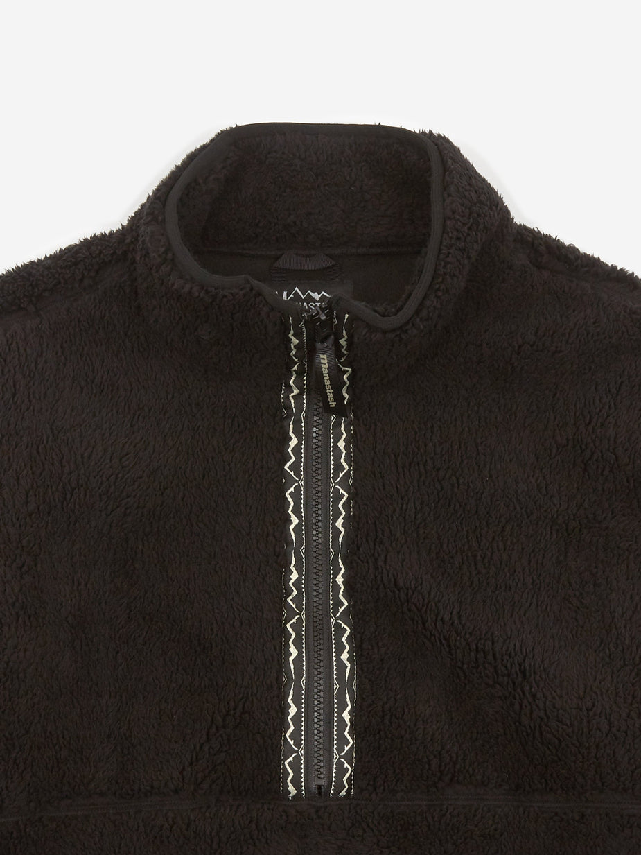Manastash Manastash Big Foot Pullover Jacket - Black - Black