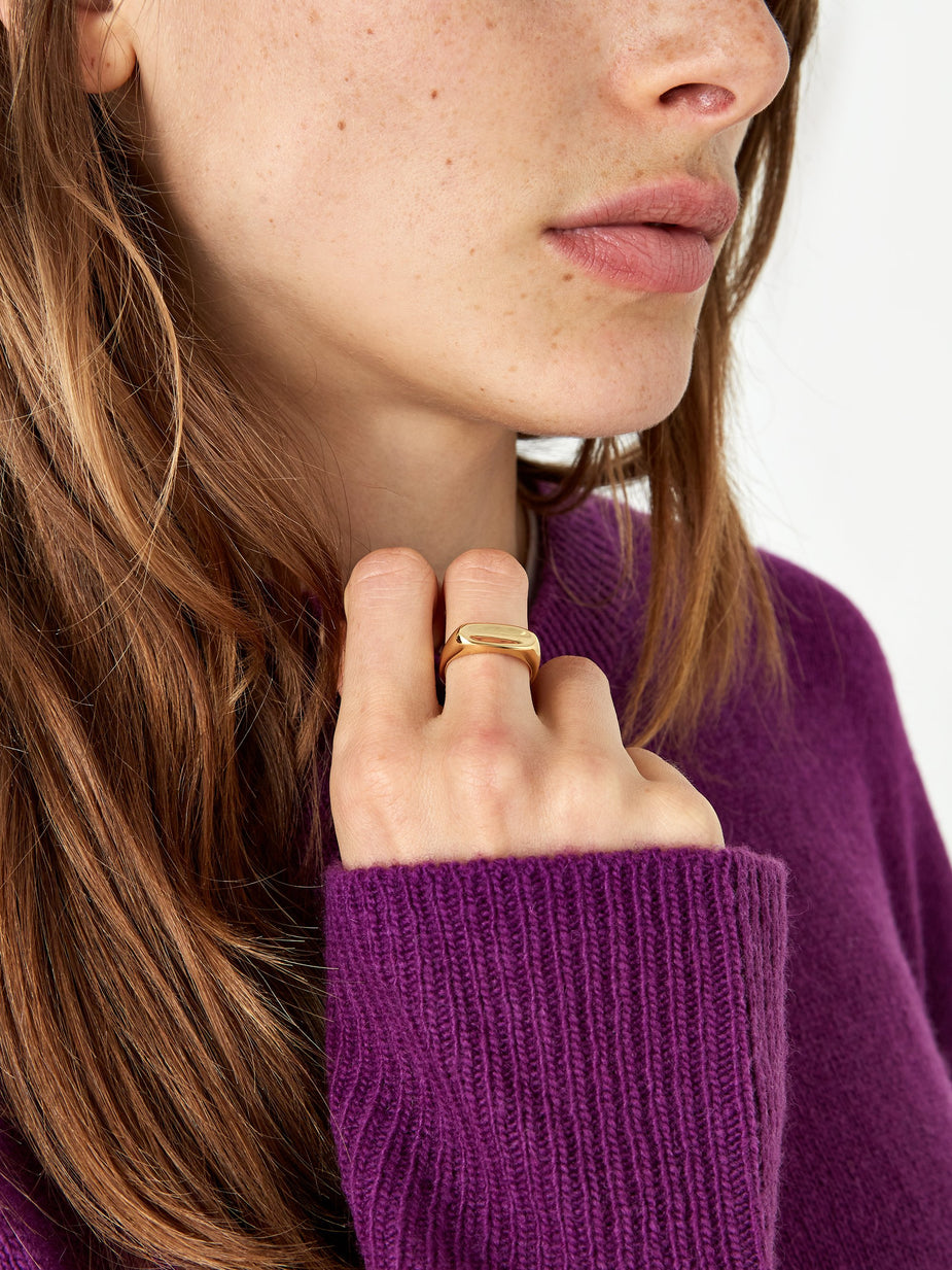 Maria Black Maria Black Papaya Ring - High Polished Gold - Gold