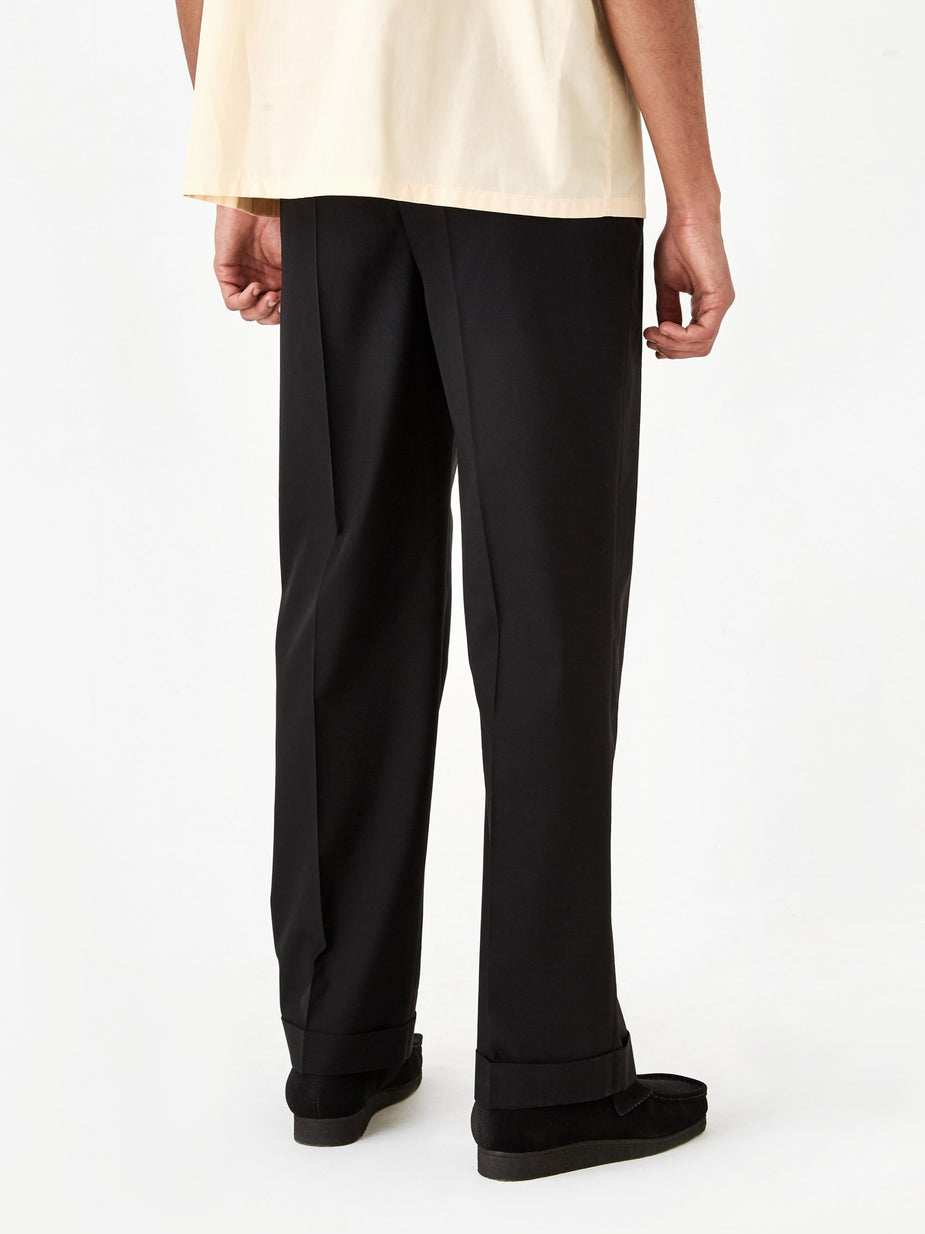 Marni Marni Cotton Wool Tonic Trouser - Black - Black