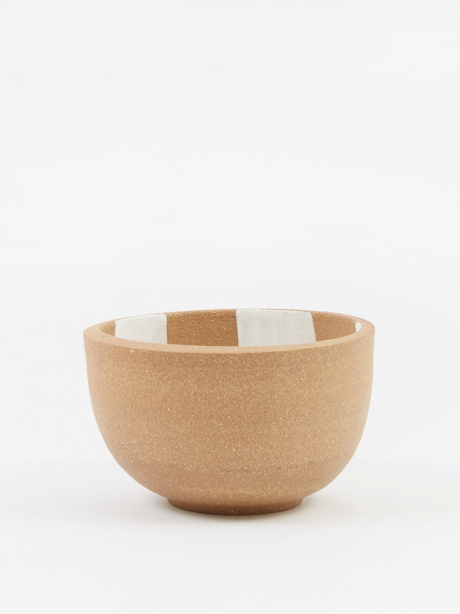 Mellow Mellow Incense Bowl Large - Light Brown Inside Check - Brown