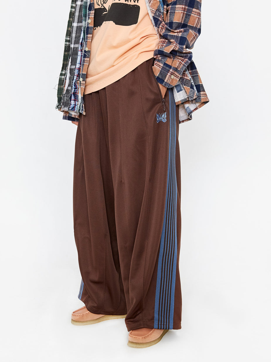 Needles Needles HD Poly Smooth Track Pant - Brown - Brown