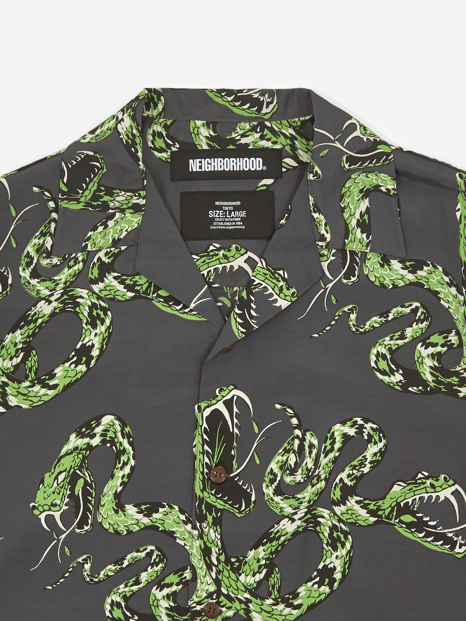 Neighborhood Neighborhood Aloha Rattlesnake / R-Shirt - Charcoal - Grey