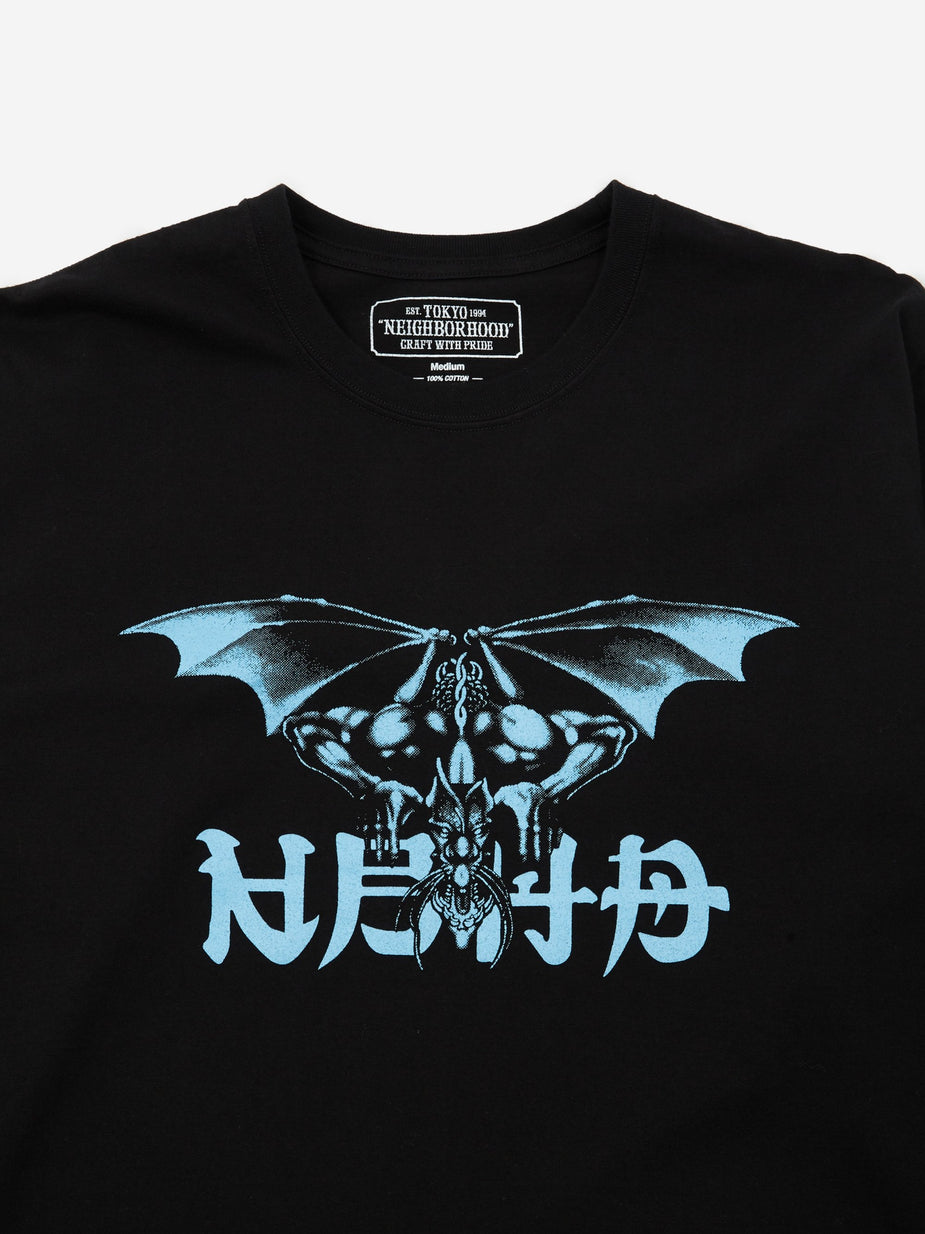 Neighborhood Neighborhood Longsleeve No Mercy-1 / C - Black x Blue - Blue