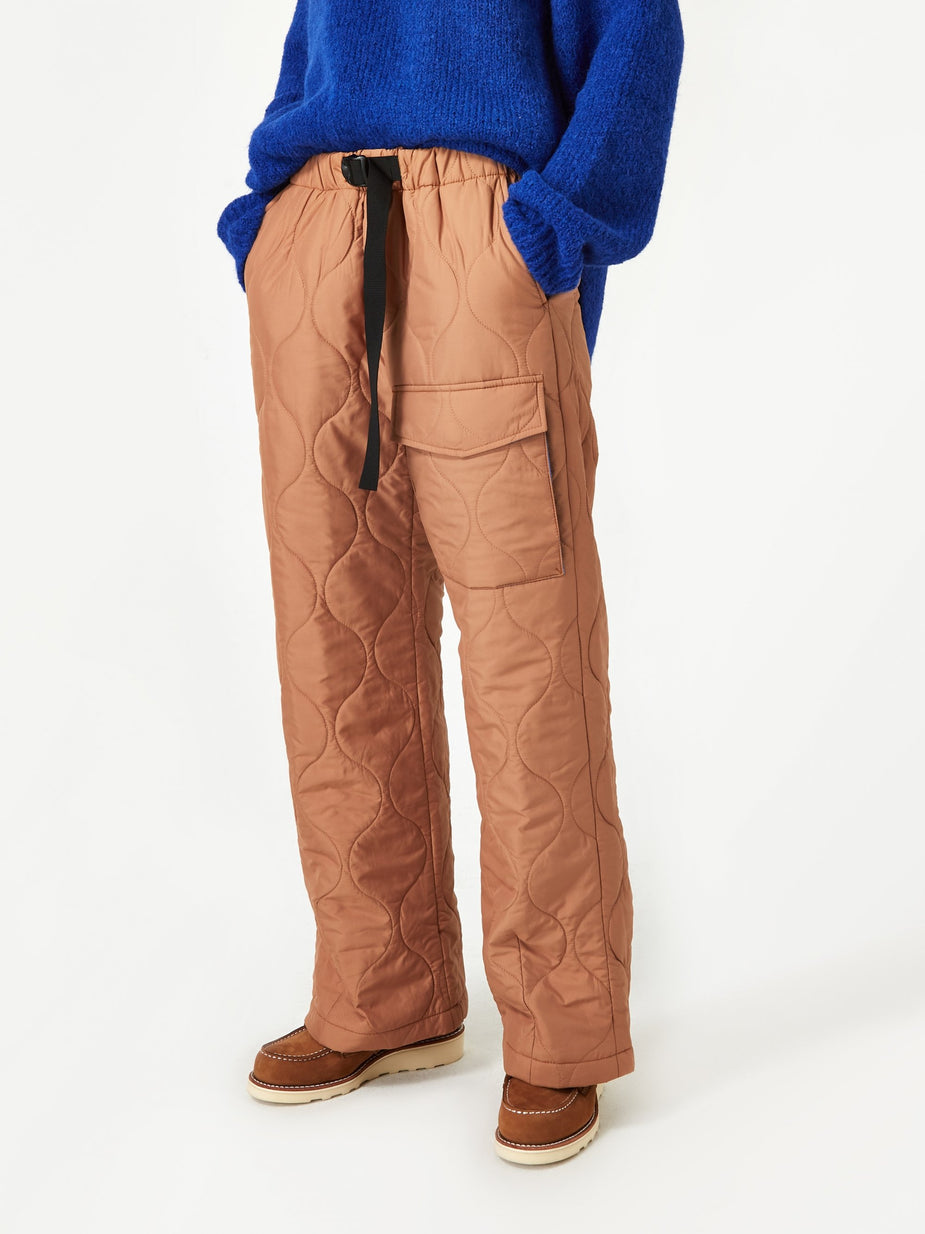 Neul Neul Cipolla Wadding Webbing Belt Pant - Biscuit