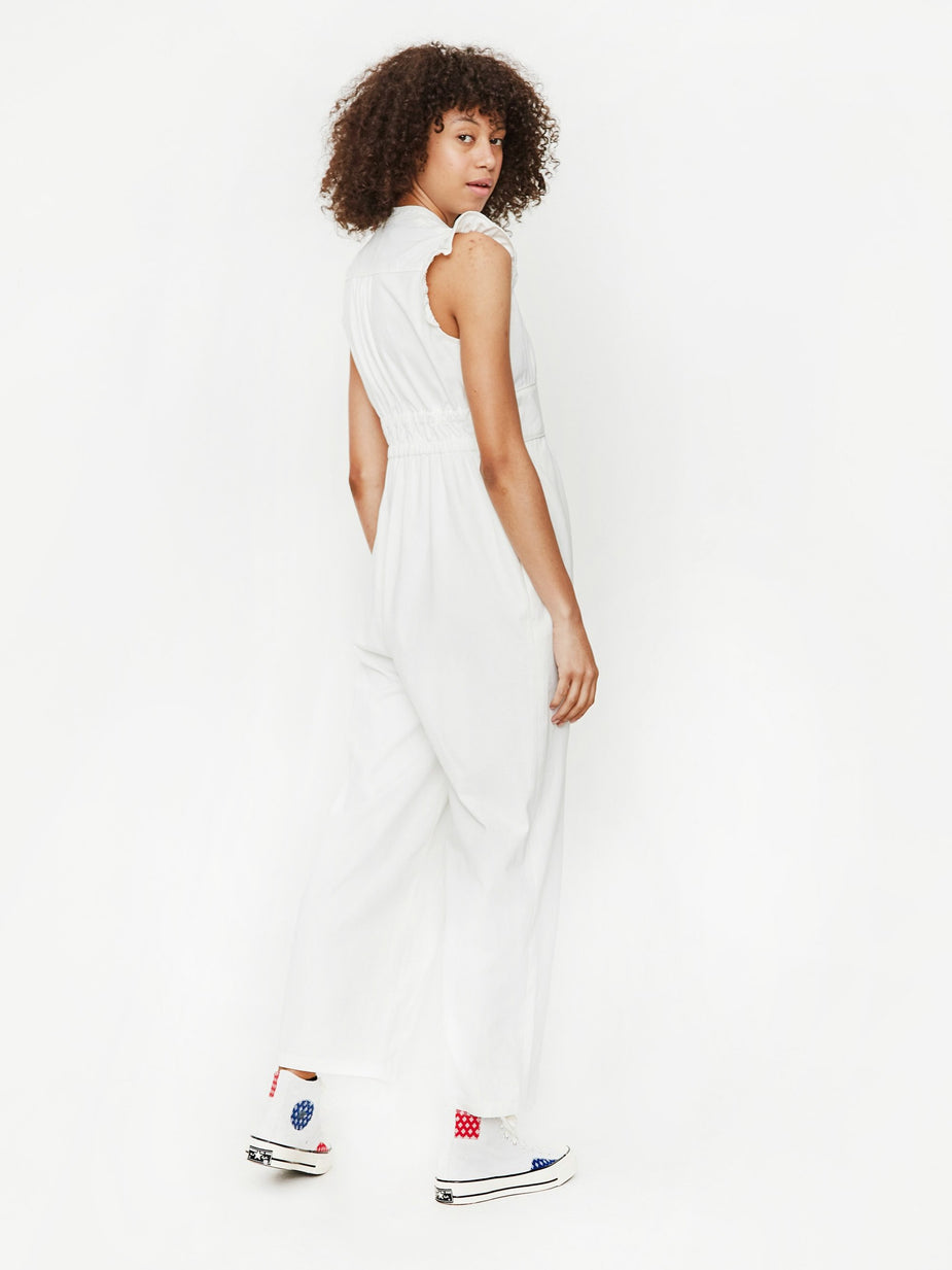 Neul Neul Frilly Jumpsuit - White - White