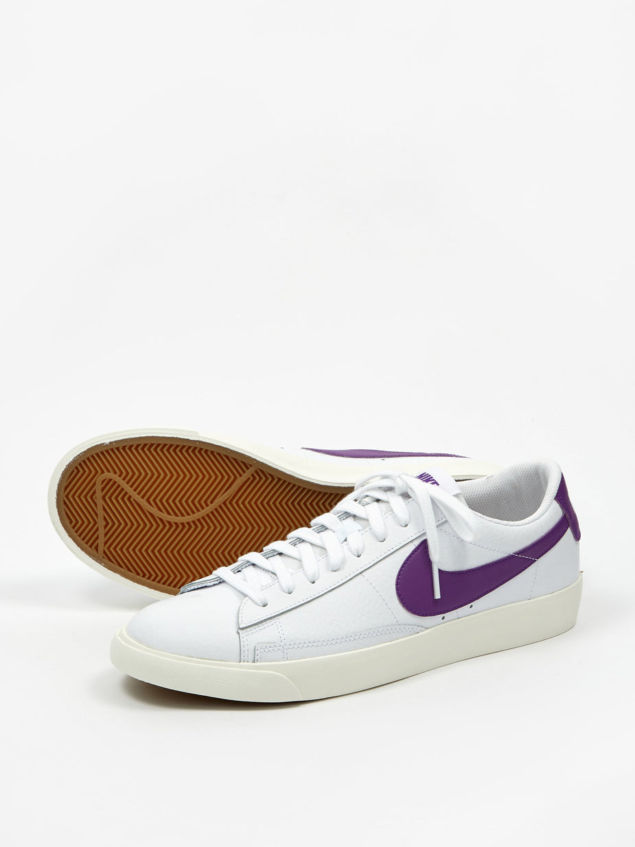 Nike Nike Blazer Low Leather - White/Voltage Purple - Purple