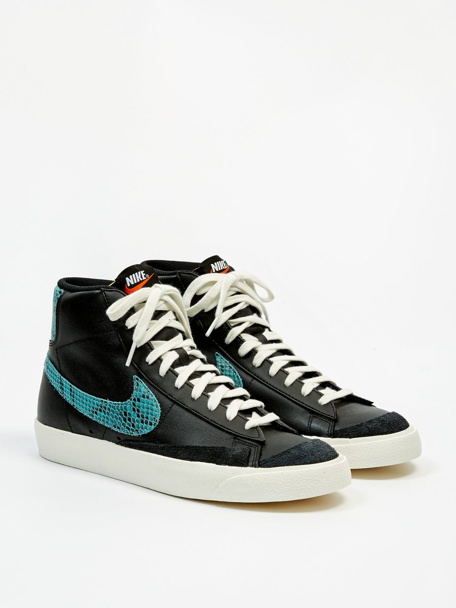 Nike Nike Blazer Mid 77 Vintage - Black/Light Aqua/Sail - Black