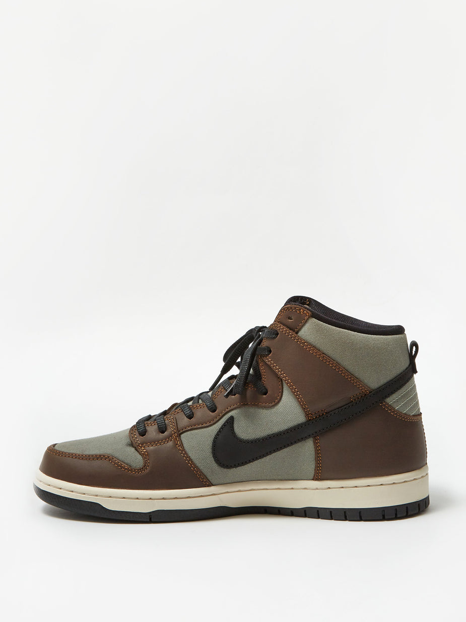 Nike Nike SB Dunk High Pro - Baroque Brown/Black/Jade Horizon - Brown