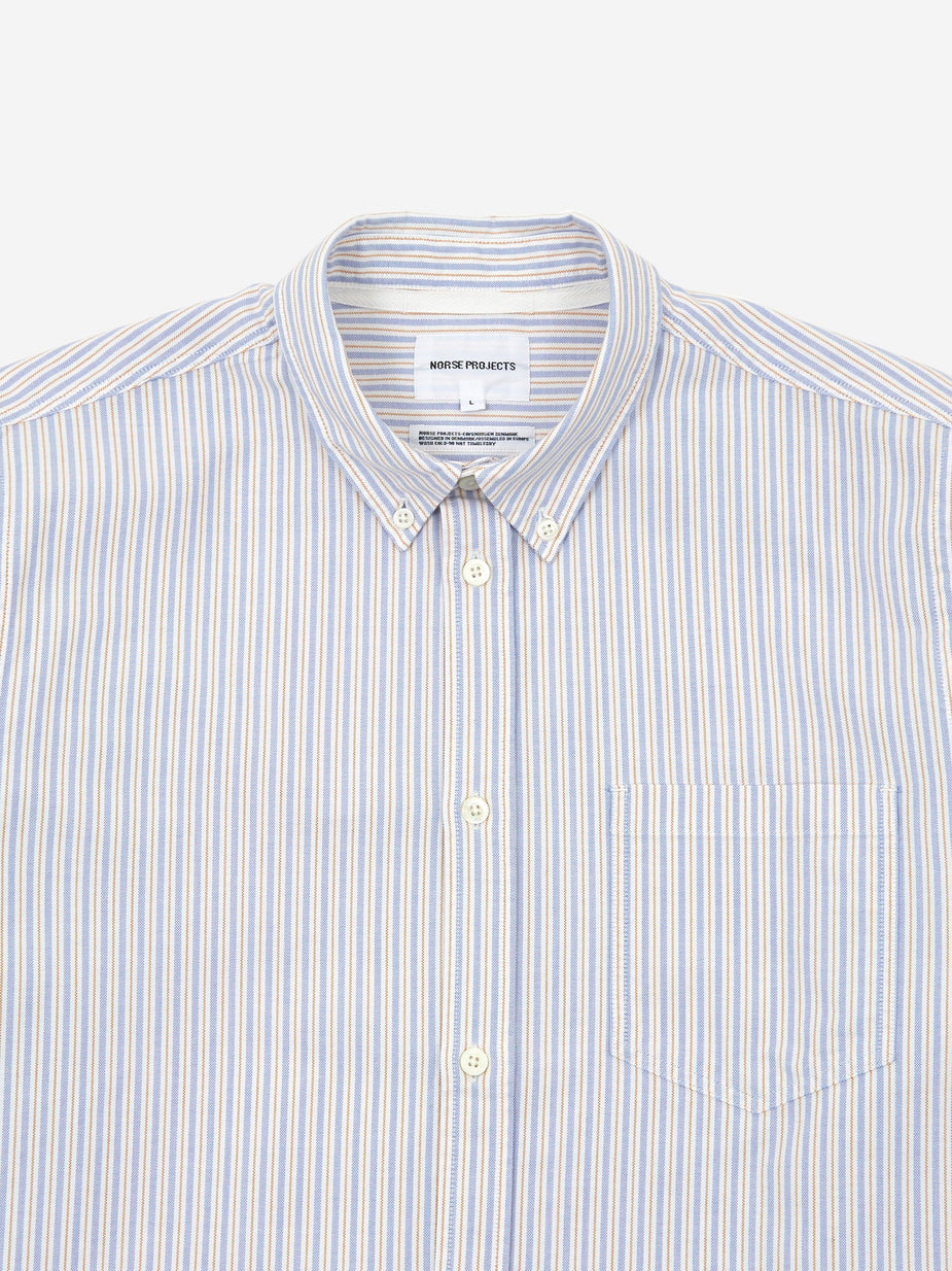 Norse Projects Norse Projects Anton Oxford Longsleeve Shirt - Clouded Blue - Blue