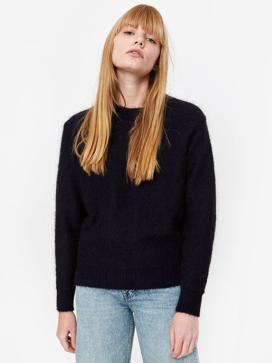 Norse Projects Norse Projects Aslaug Brushed Jumper - Dark Navy - Blue
