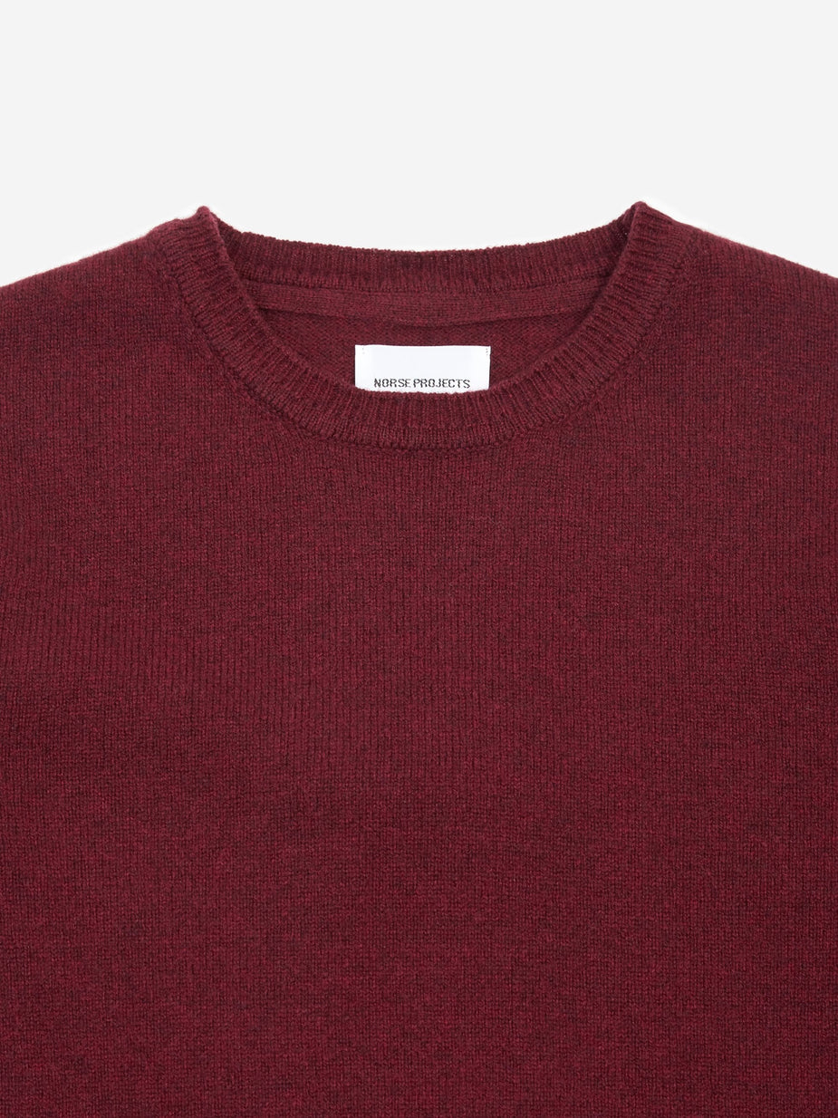 Norse Projects Norse Projects Sigfred Lambswool Jumper - Mulberry Red - Red