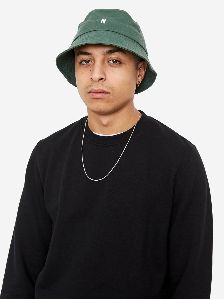 Norse Projects Norse Projects Twill Bucket Hat - Dartmouth Green - Green