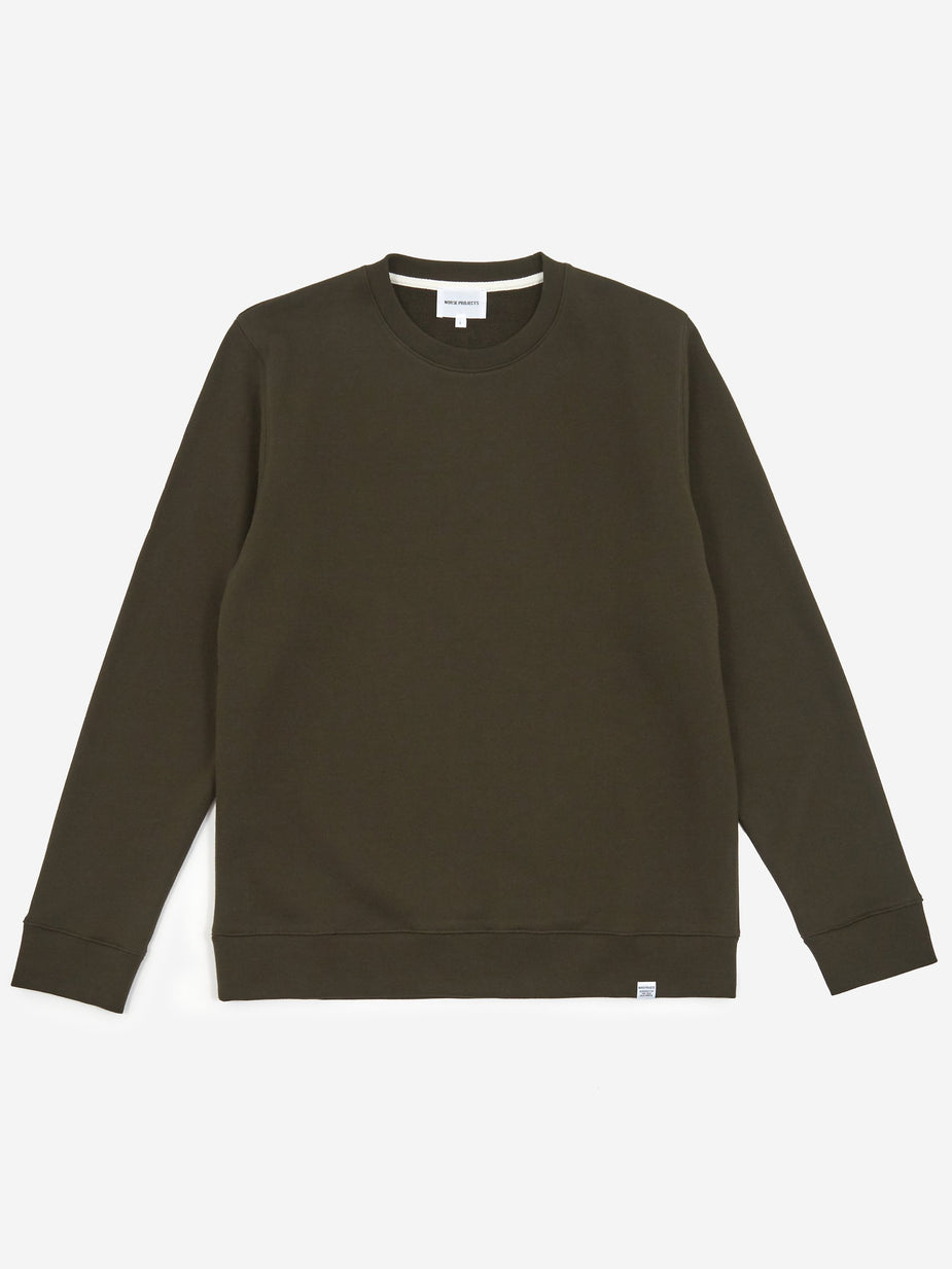 Norse Projects Norse Projects Vagn Classic Crewneck Sweatshirt - Beech Green - Green