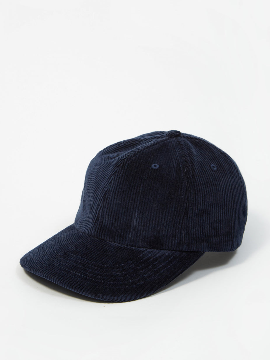 Norse Projects Norse Projects Wide Wale Cord Sports Cap - Ensign Blue - Blue