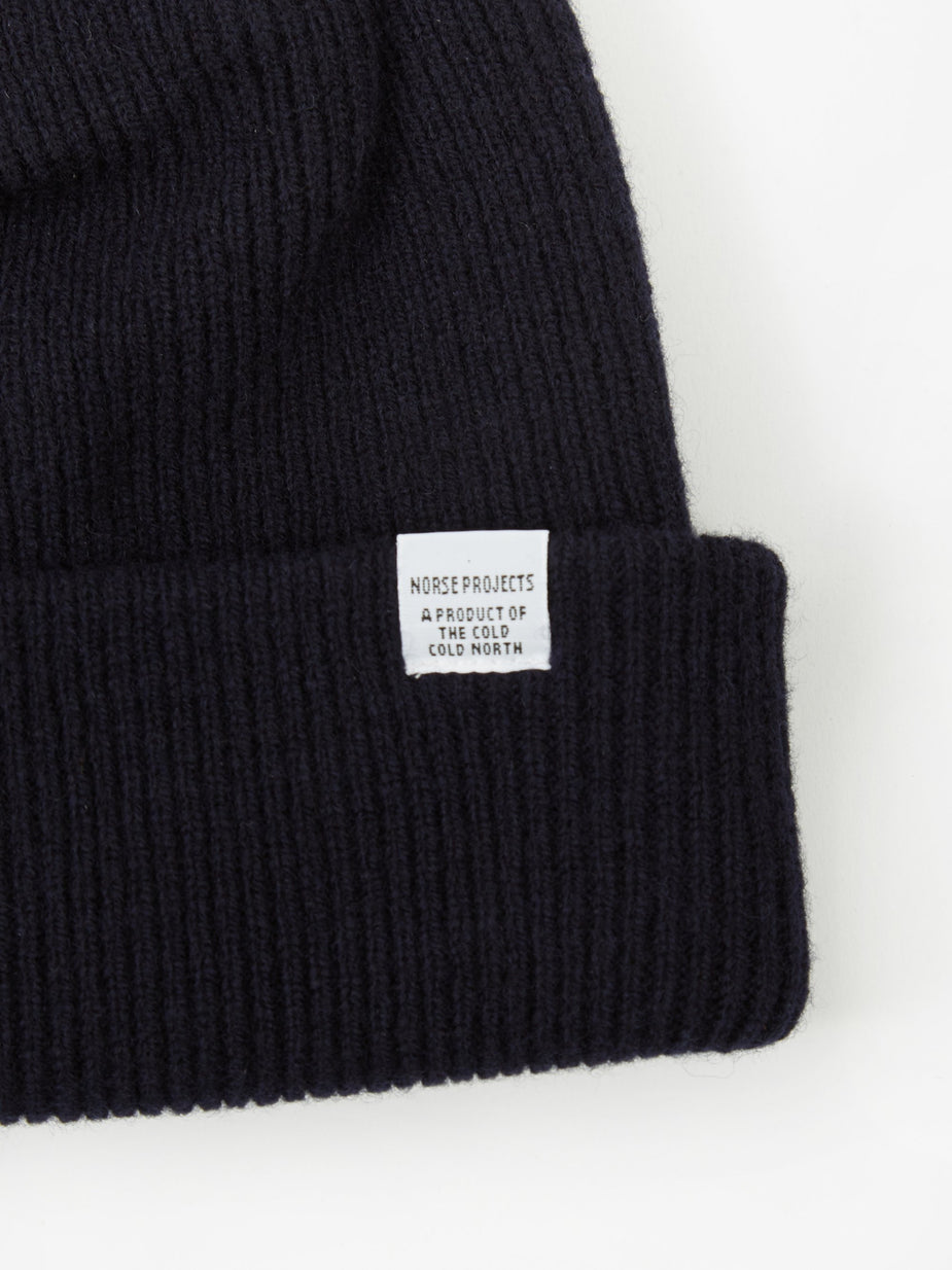 Norse Projects Norse Projects Norse Beanie - Dark Navy - Blue