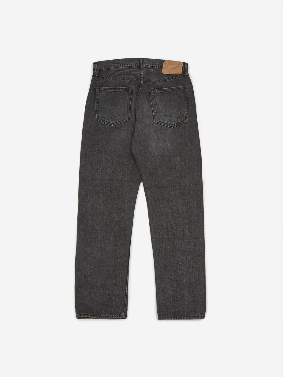 OrSlow OrSlow Ivy Fit 107 W/O Selvedge Denim Jean - Black Denim Stone - Black