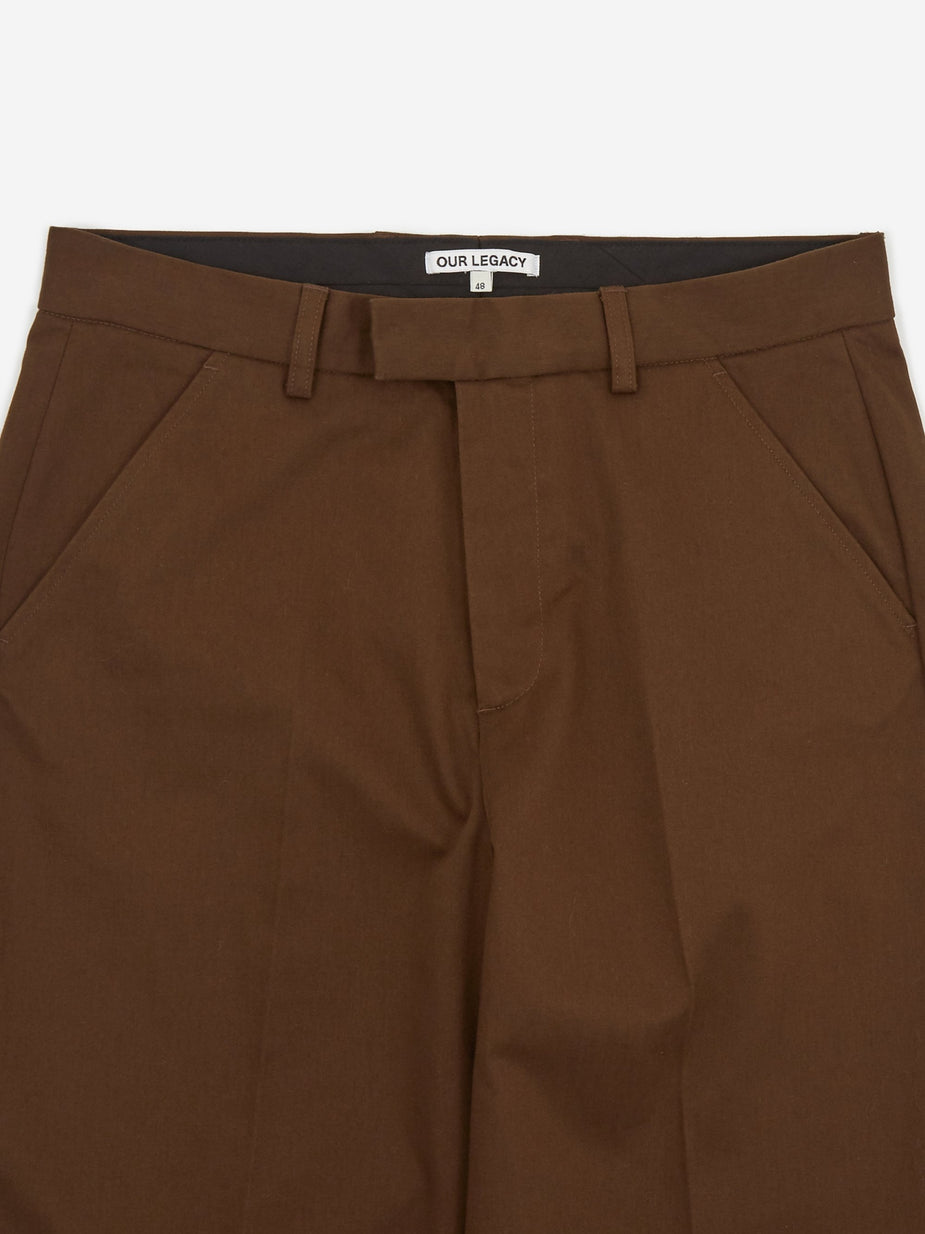 Our Legacy Our Legacy Chino 24 - Dark Brown Satin - Brown