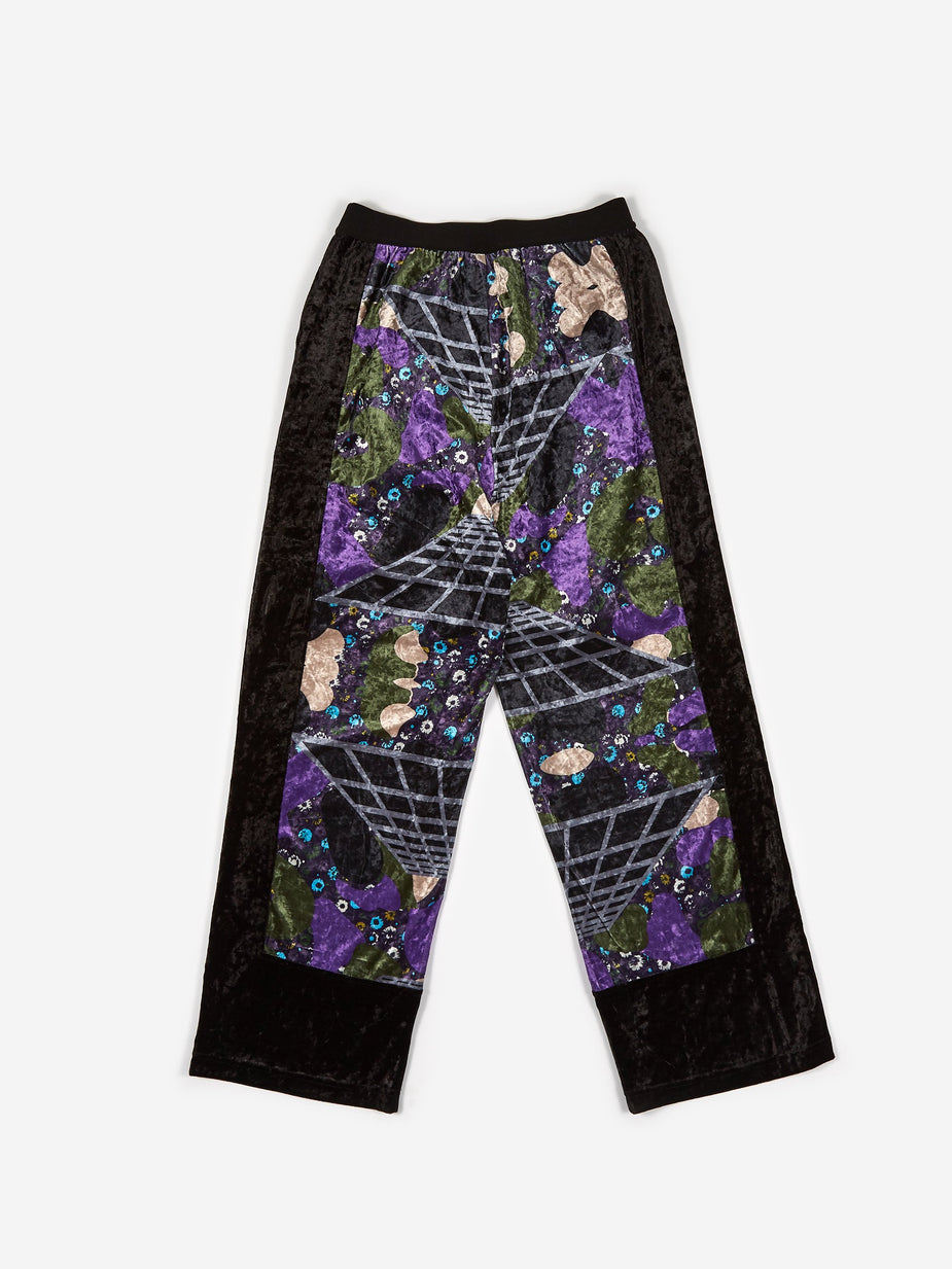 Perks & Mini PAM Perks And Mini Far Far Away Velvet Trouser - Cosmic Camo Print - Camo