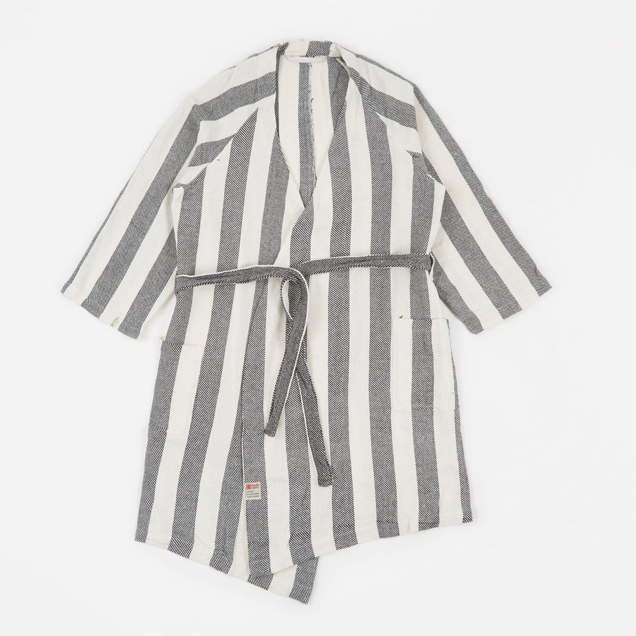 Puebco Puebco Bath Robe - Wide Stripe - White