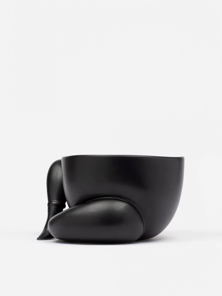 Parra Parra A High Heeled Two Legged Planter - Black - Black