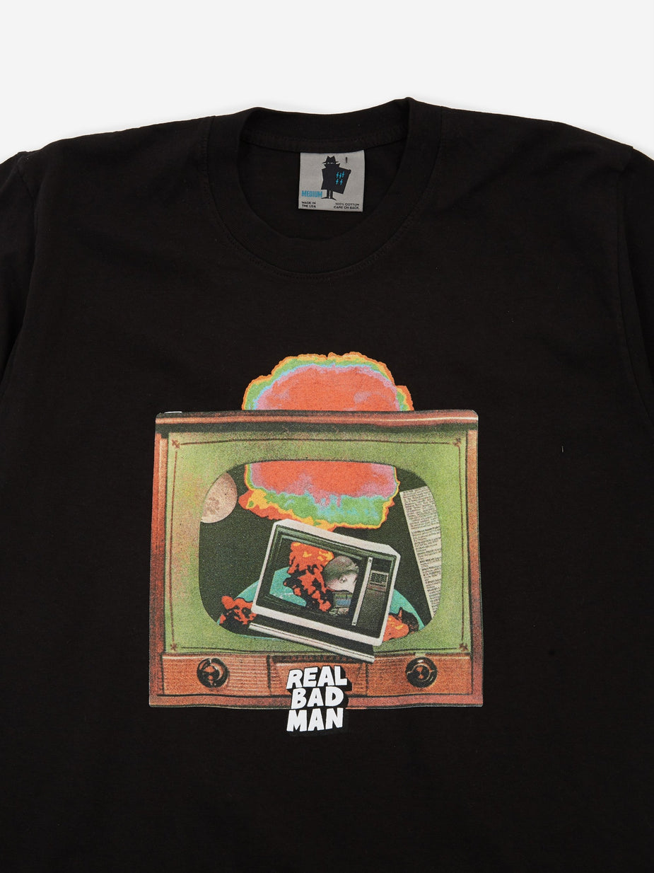 Real Bad Man Real Bad Man Atomic Television Shortsleeve T-Shirt - Black - Black