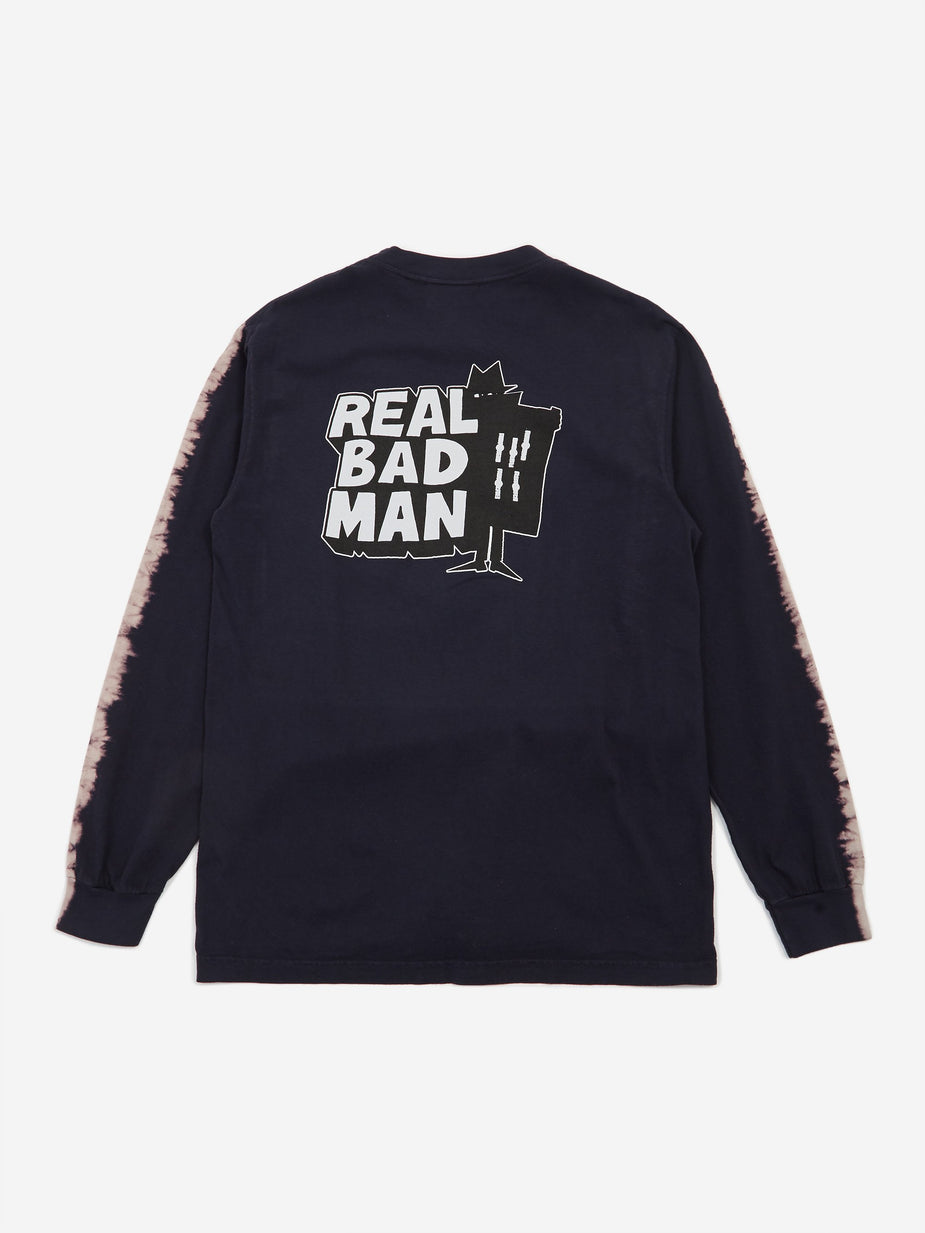 Real Bad Man Real Bad Man Logo Volume 4 Tie Dye Longsleeve T-Shirt - Black - Black