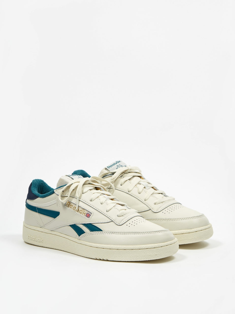 Reebok Reebok Club C Revenge MU - Chalk/Navy/Teal - Blue