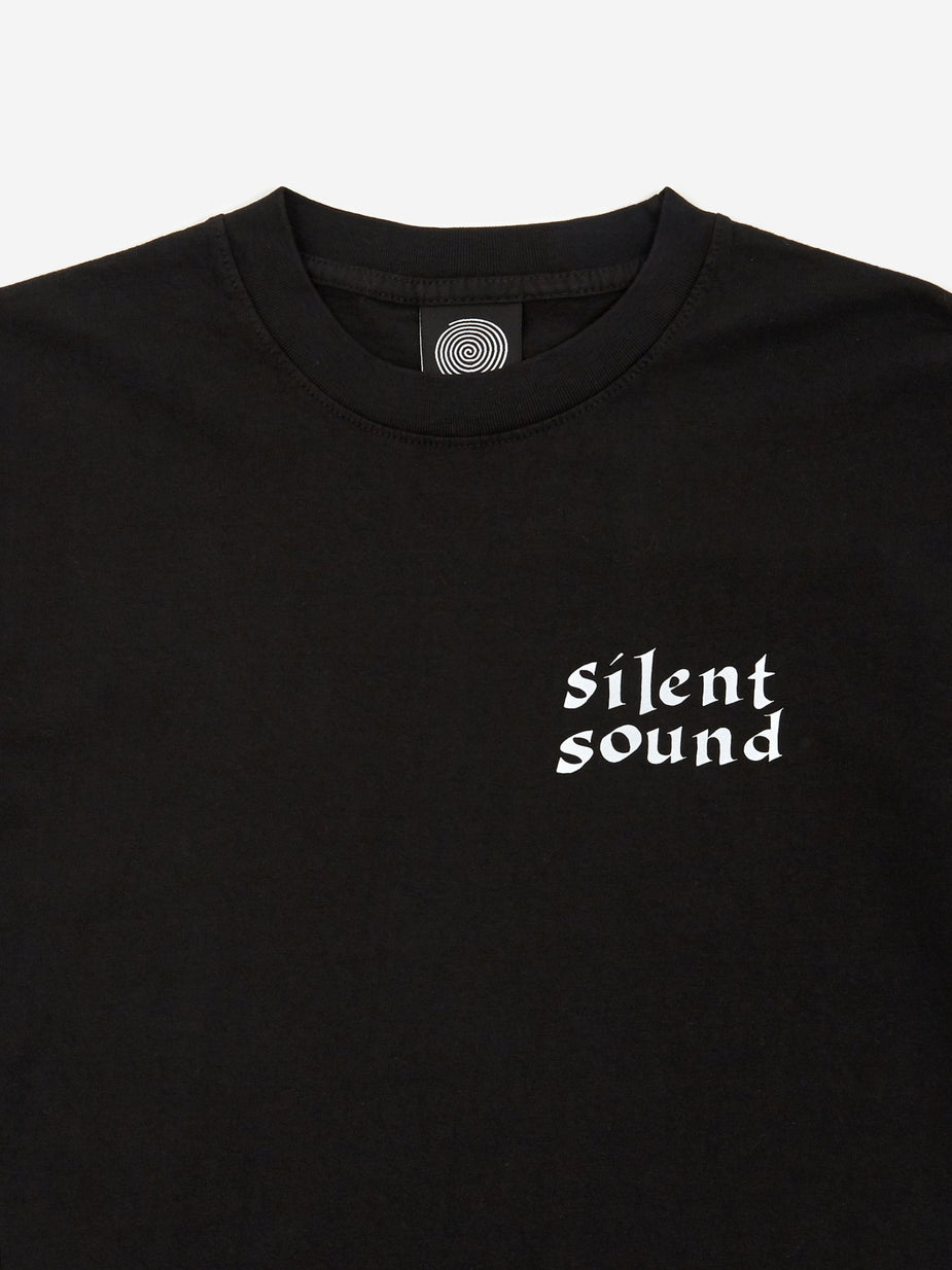 Silent Sound Silent Sound Caligraphy Circle Shortsleeve T-Shirt - Black/3M Reflective - Black