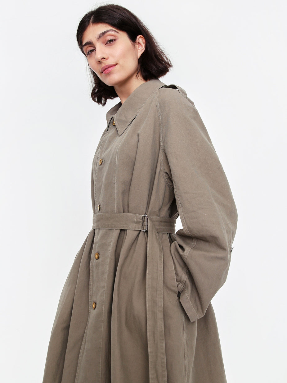 Stand Alone Stand Alone French Military Trench Coat - Khaki - Green