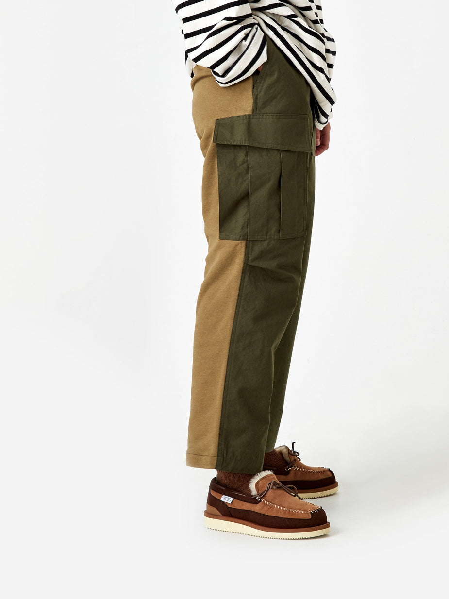 Stand Alone Stand Alone Two Tone Trouser - Khaki - Neutrals