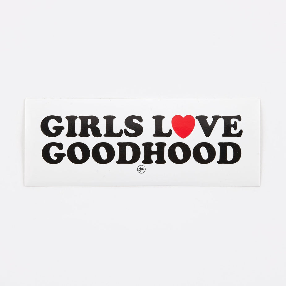 Goods By Goodhood Goods by Goodhood Girls Love Sticker - White - White
