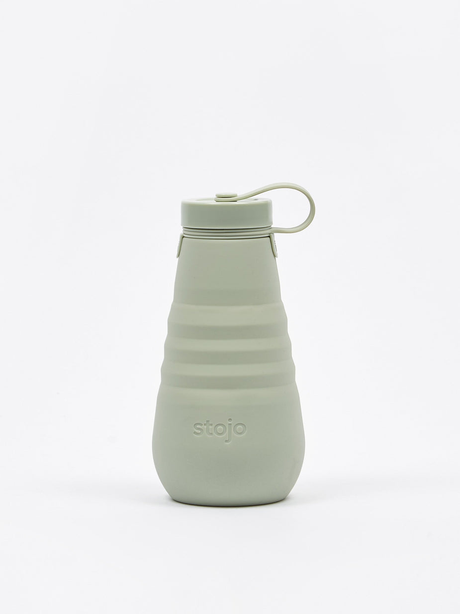 Stojo Stojo Collapsable Silicone Bottle - Sage - Green