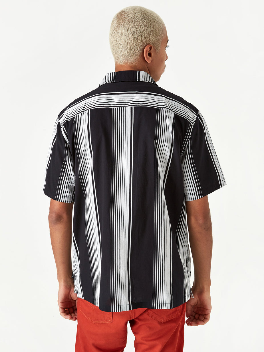 Stussy Stussy Jacquard Striped Shirt - Black - Black